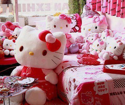 Bedroom Designs Hello Kitty lolo caty kids' pink bedroom design ideas, remodels & photos in