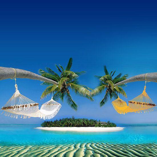 "Tropical Beaches: Beach Hammocks "" By Nasko"