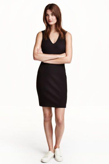 Vestido canelado | H&M