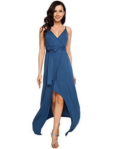dc7755d48d Womens Sleeveless Halter Neck Vintage Wrap Split Maxi Dress With Belt         AMAZON BEST BUY -affiliate link