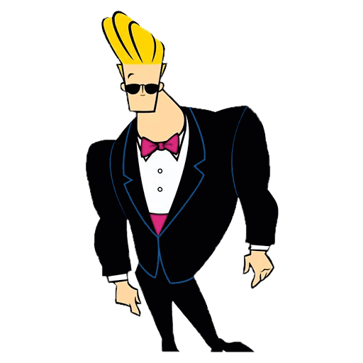 Johnny Bravo Wearing Suit Johnny Bravo Jhonny Bravo Cartoon Man