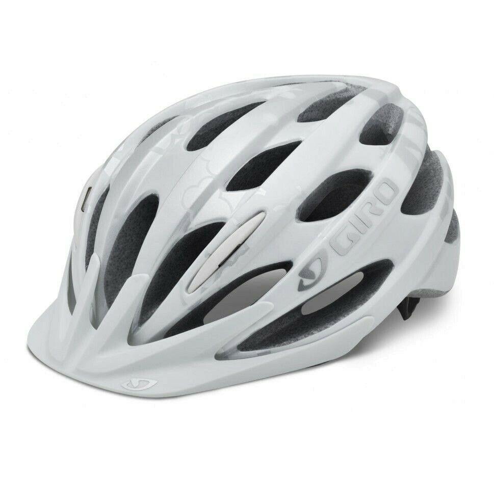 New Giro Verona Bicycle Helmet White Metallic Silver 50 57 Cm Women S Cycling Giro Cycling Helmet Bike Helmet Bicycle Helmet