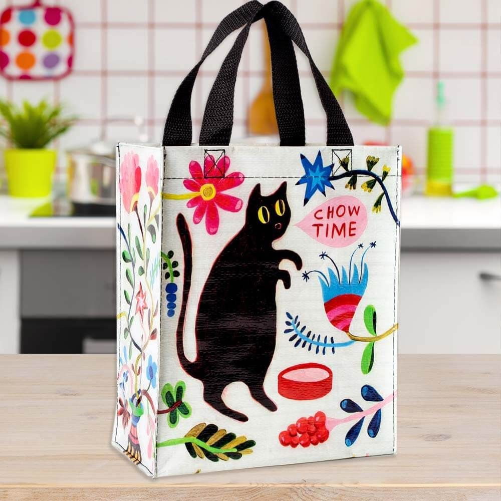 Chow Time Black Cat Handy Tote in Fun Gifts By Blue Q Just us 42b11a3d7bf61