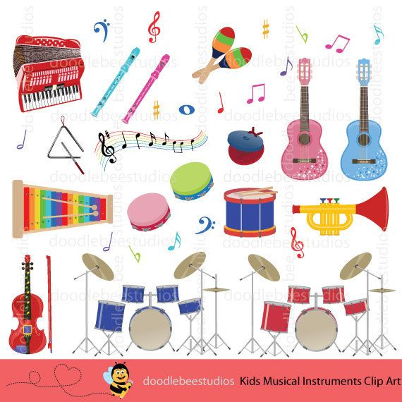 colorful musical instruments clipart kids musical instruments clip rh pinterest ca clipart instruments pictures clipart instruments de musique
