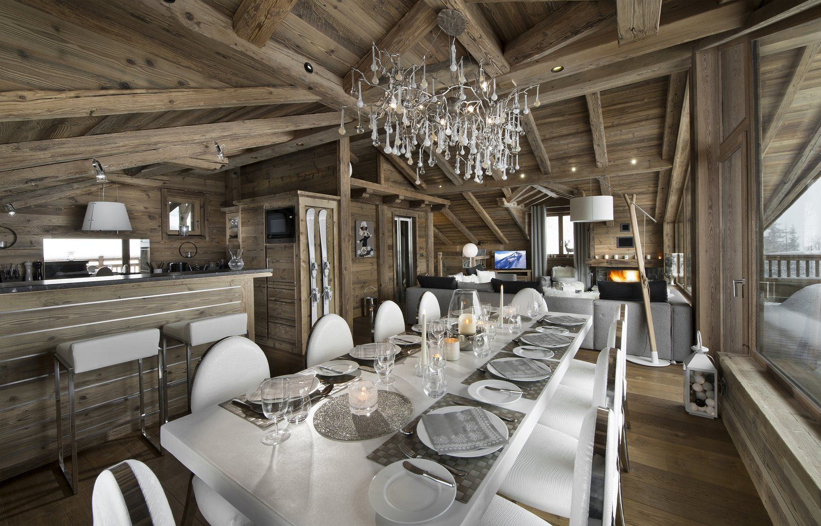 les 3 chalets location de chalets de luxe courchevel. Black Bedroom Furniture Sets. Home Design Ideas