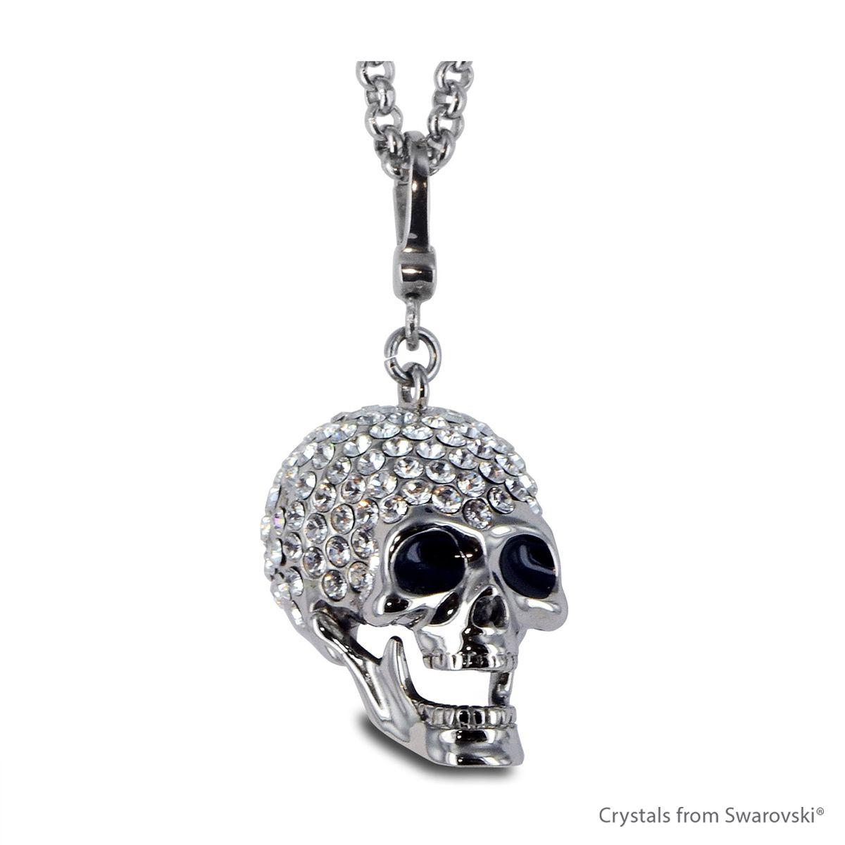 Swarovski skull skull necklace embellished with swarovski swarovski skull skull necklace embellished with swarovski crystals mozeypictures Images