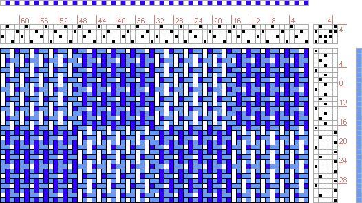 Taquete Weaving | Hand Weaving Draft: checkerboard turned taquete, turned version of ...