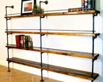 industrielle biblioth que industriel tag re industriel. Black Bedroom Furniture Sets. Home Design Ideas
