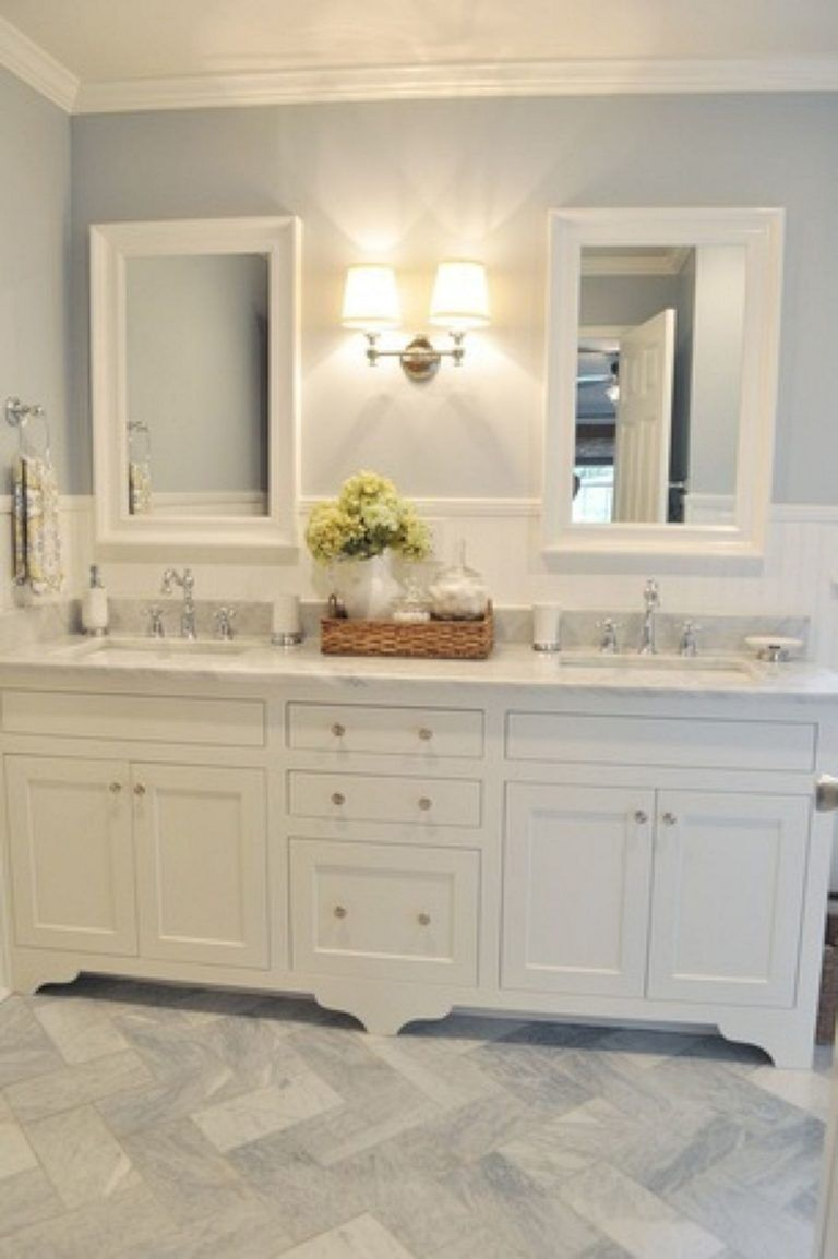 Bathroom Double Sink Vanity Ideas | 10 Wonderful Diy Master Bathroom Ideas Remodel On A Budget