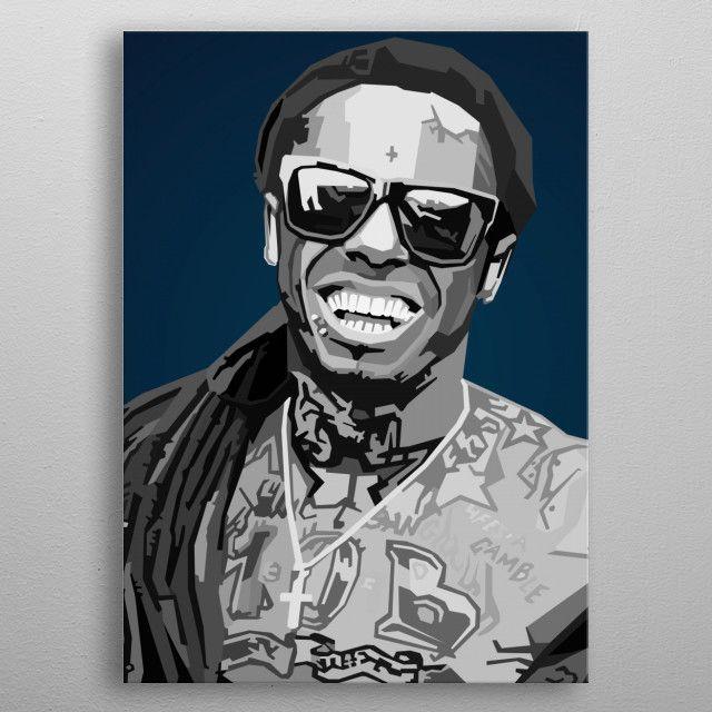 Lil Wayne WPAP Pop Art Pop Art Poster Print | metal posters - Displate