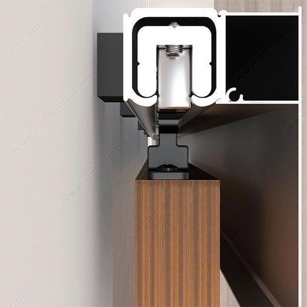 Richelieu Contemporary Concealed Barn Door Hardware Set 2460402ALPVC |  CabinetParts.com