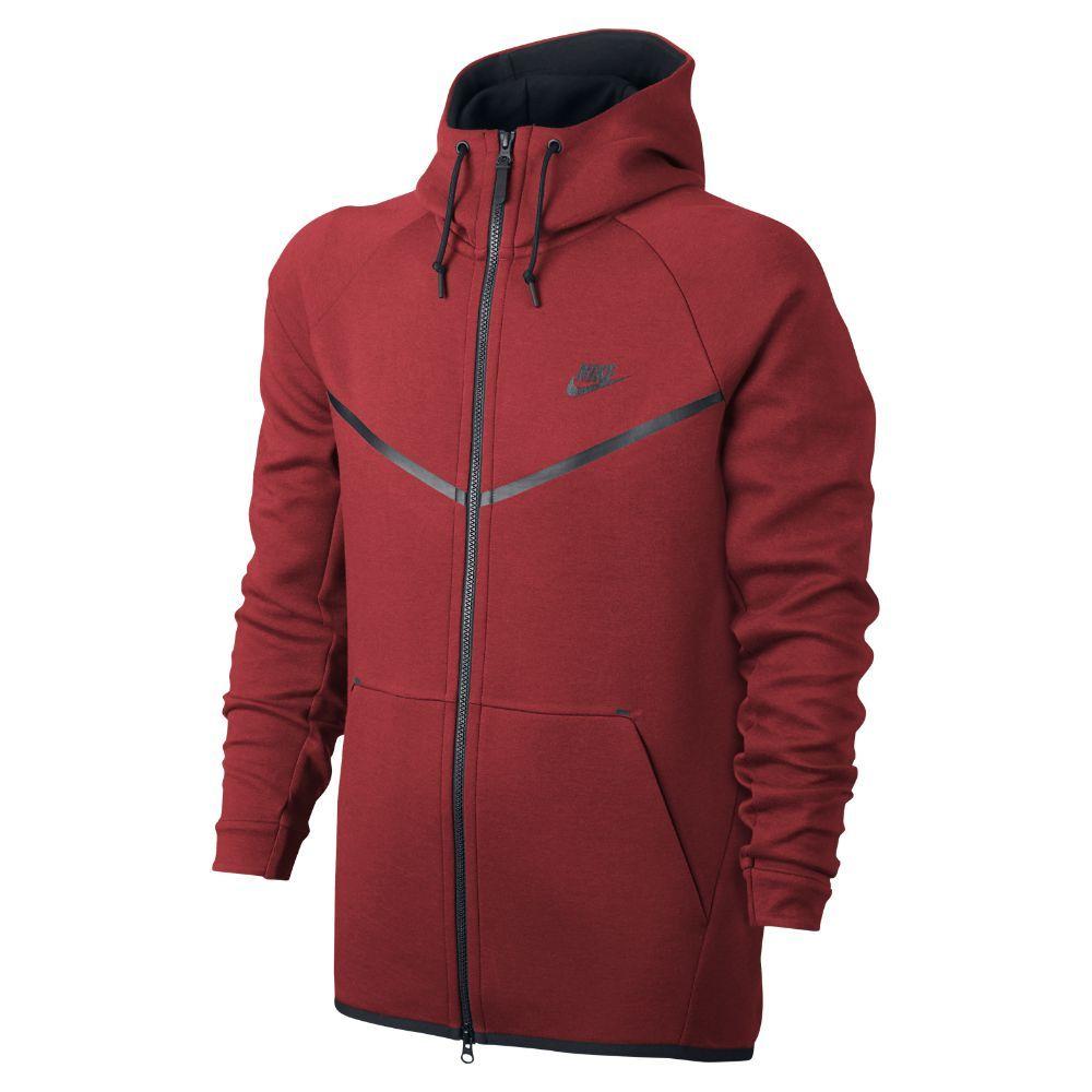 Nike Sportswear Tech Fleece Windrunner Men s Hoodie Size Medium (Red ... 159440cd0684