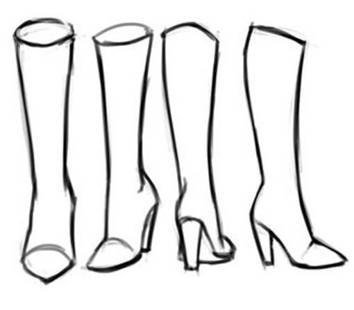 How To Draw Boots Enjoy Shoe Design Sketches Anime