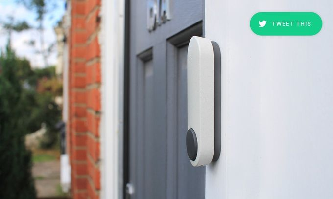 Ding the future Doorbell - Talk with the person at your front door wherever you are in the world. Never miss an important package or visitor again!