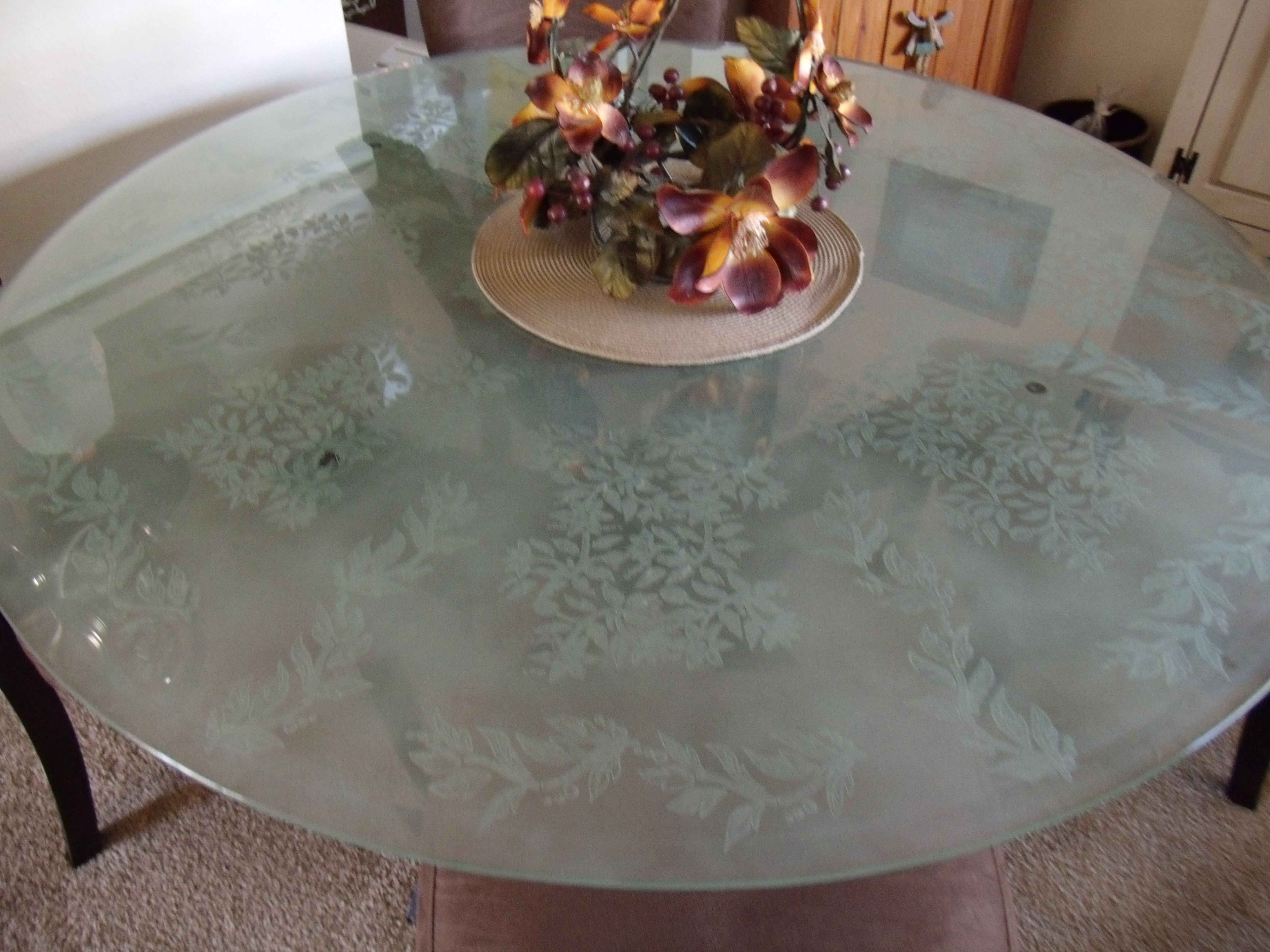Etched Glass Table Top Then Frosted Glass Dinning Room Table Glass Top Table Dinning Room Tables [ 3240 x 4320 Pixel ]