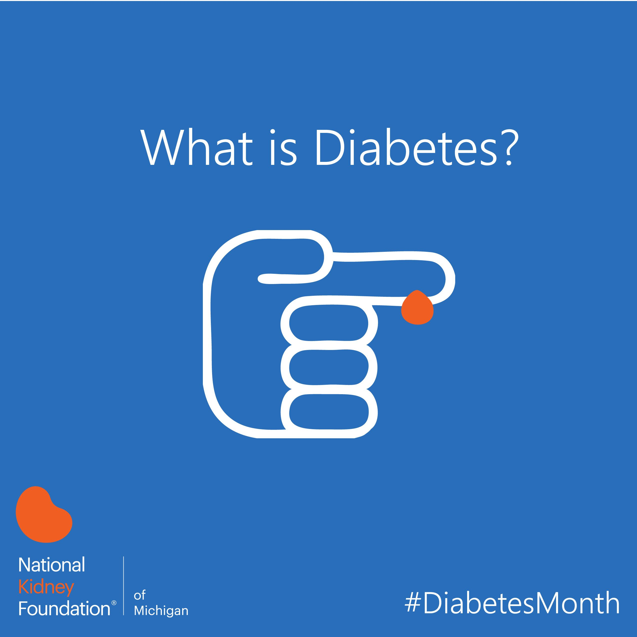 What is diabetes anyways?  Diabetes mellitus is a disease in which the body is either no longer making a hormone called insulin, or the insulin that is made is not working as it should. #DiabetesMonth