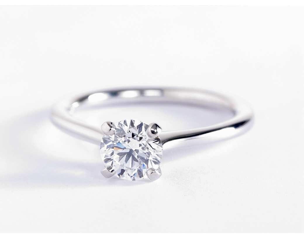 Petite Nouveau Four Prong Solitaire Engagement Ring In 14k White Gold Solitaire Engagement Ring Wedding Rings Solitaire Engagement Rings