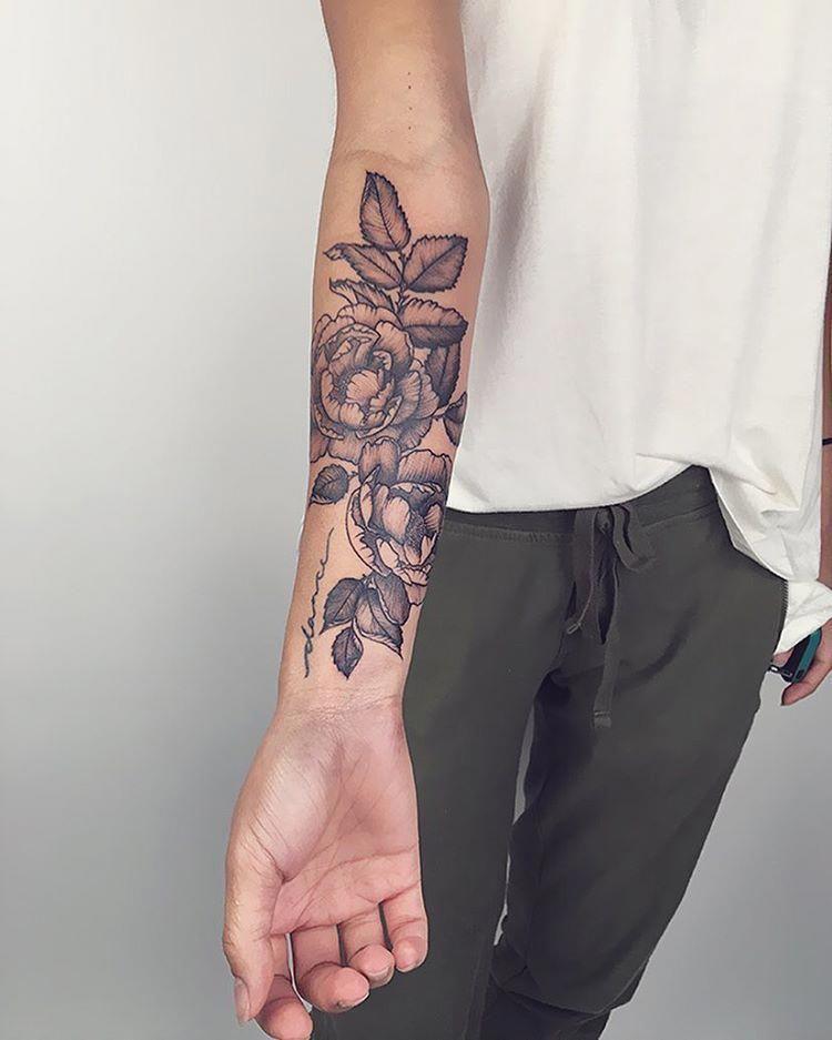 Cute flower wrist tattoo forearm cover up tattoos arm