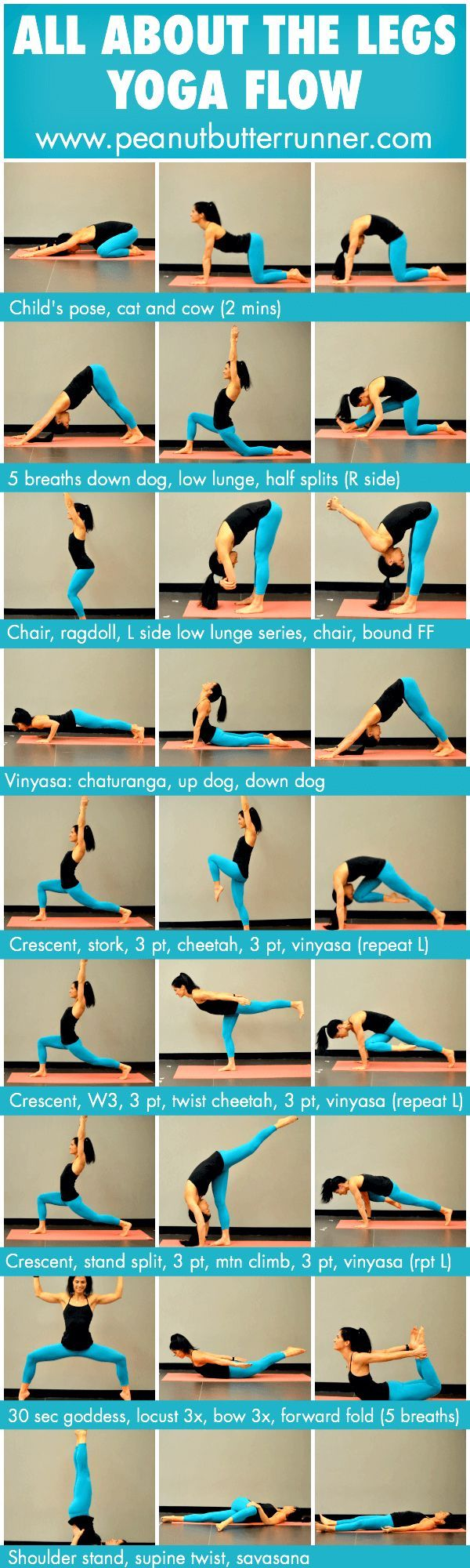 All About the Legs Yoga Flow {Photo Guide & Video} #shirtsale