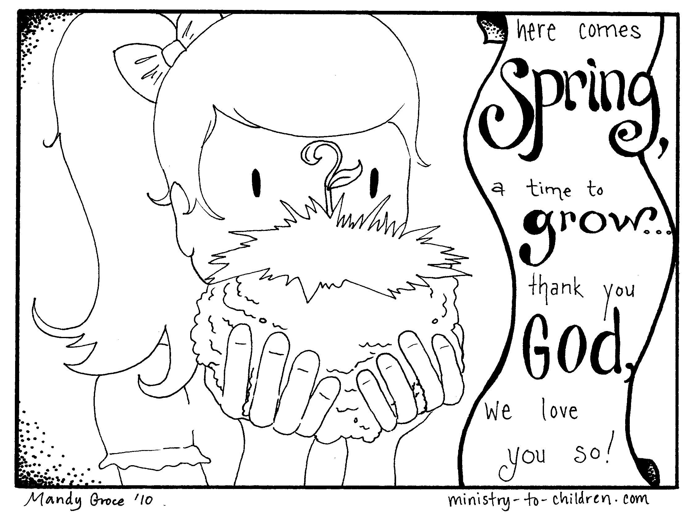 Spring coloring pages pinterest - Spring Coloring Page