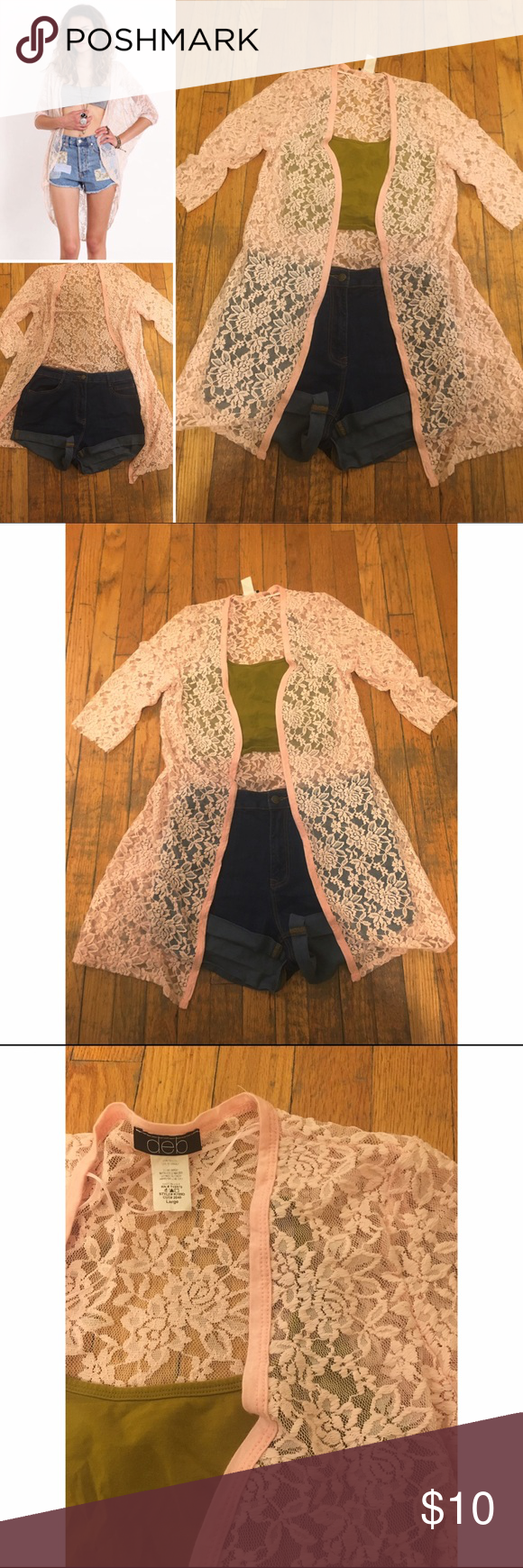 Boho long lace cardigan