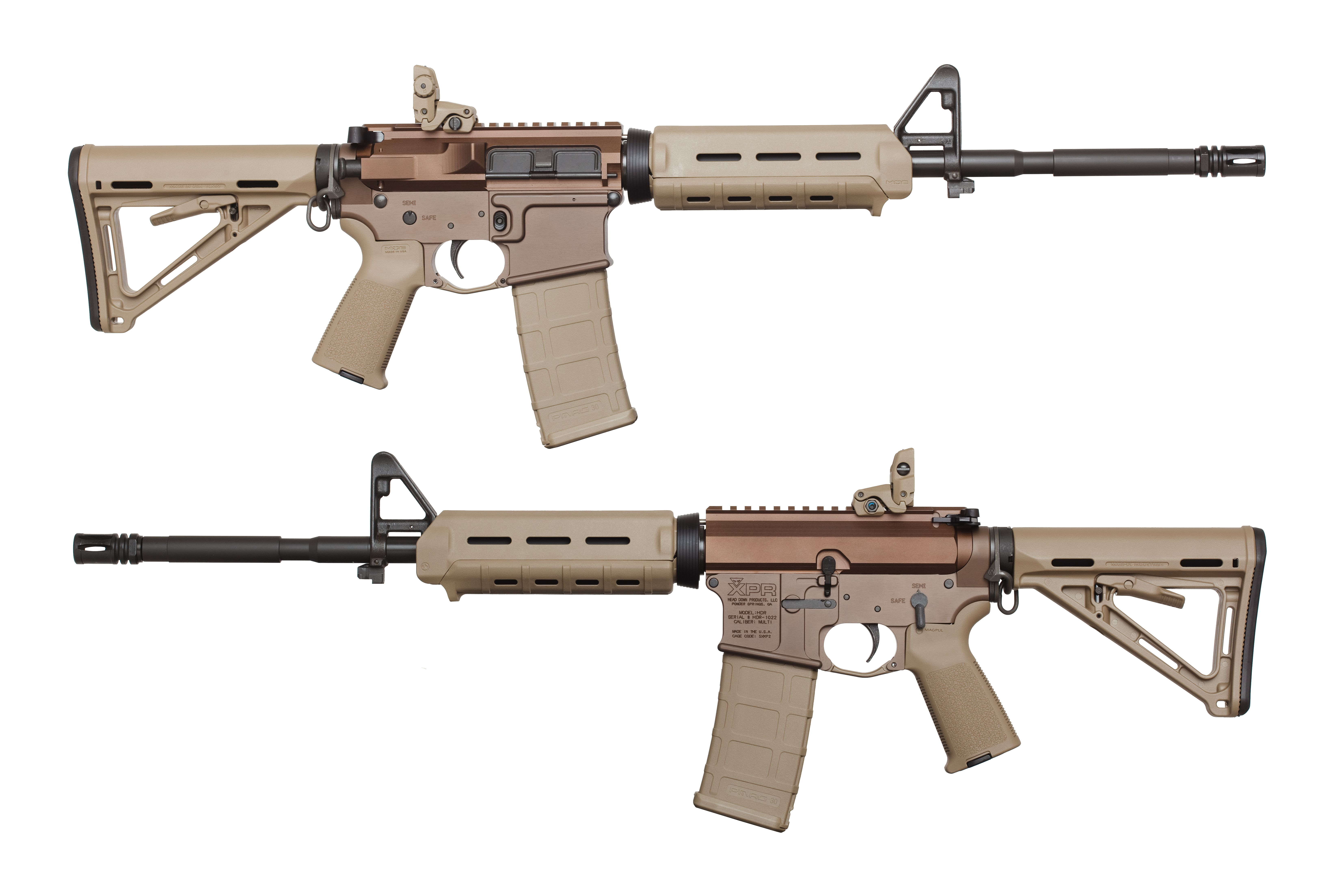 Merveilleux HD BR Anodized FDE With Magpul MOE Furniture