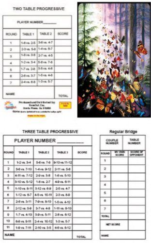 image relating to Printable Bridge Tallies named Butterfly Woods Bridge Tallies (12 Pack) 2 3 Desk