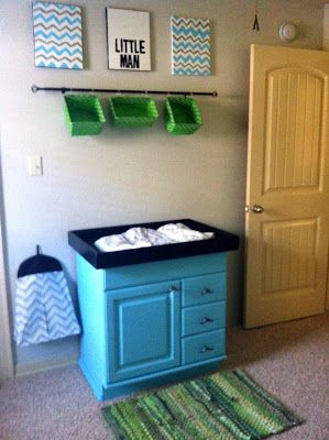 Nursery grey gray blue green chevron do it yourself diy changing nursery grey gray blue green chevron do it yourself diy changing table and mustaches solutioingenieria Image collections