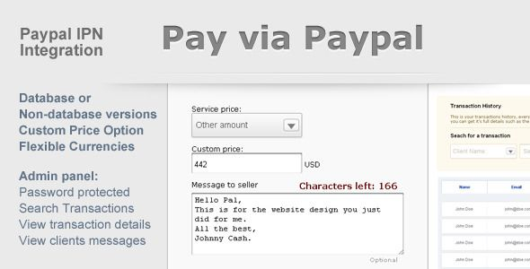 Paypal Payment Form with Admin Panel  UPDATED 8 March Web - payment form template