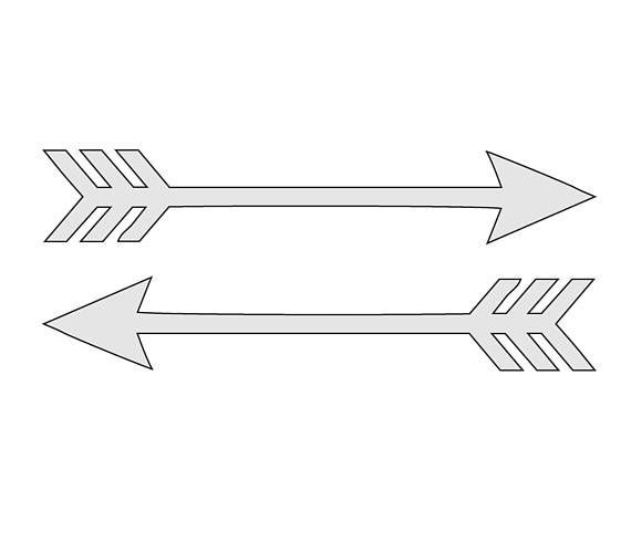 Geeky image regarding printable arrow stencil