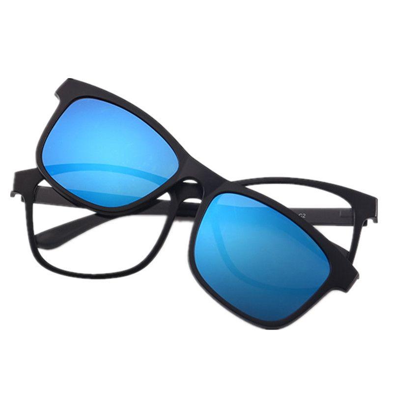 0d4808fdef2 2 lens Magnet Sunglasses Clip Mirrored Clip on Sunglasses clip on glasses  Men Polarized Clips Custom Prescription Myopia