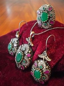 b1a57c61a607a 925 Sterling Silver Hurrem Authentic Handmade Turkish Ottoman Style ...