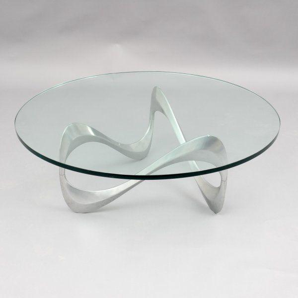 Velvet-Point - coffeetables 1960s glass table \