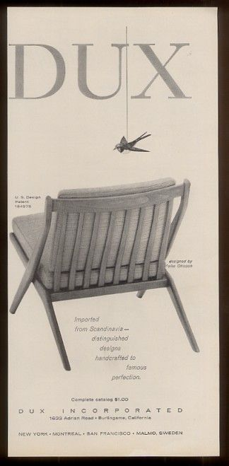 Dux Furniture Advertisement 1950u0027s