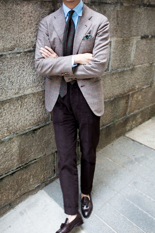 a5c14df1a39590 lnsee: Orazio Luciano Sherry Kash BlazerDrake's TieLiverano ShirtAmbrosi  Corduroy TrousersCarmina Braided Tassel Loafers
