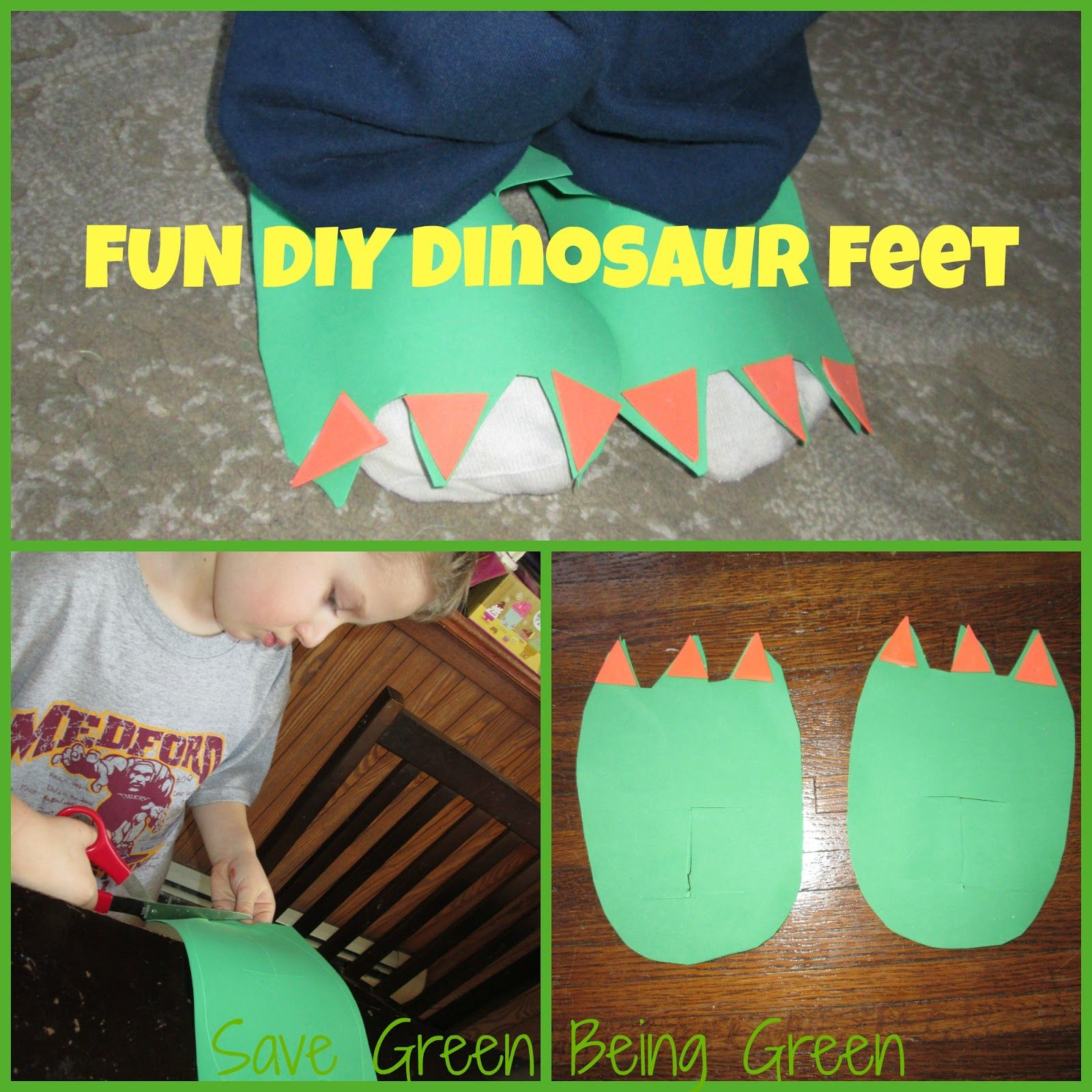 DIY Dinosaur Feet Time To Get Creative With The Kids And Make Some Out Of Craft Foam