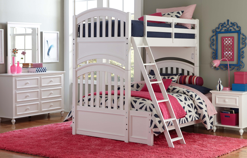 Academy Twin Over Full Bunk Bed White Pinterest Full Bunk Beds