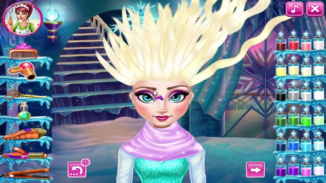 Frozen Games Elsa And Anna Real Haircuts Funny Games For Girls And Kids Frozen Games Funny Games Frozen Games For Kids
