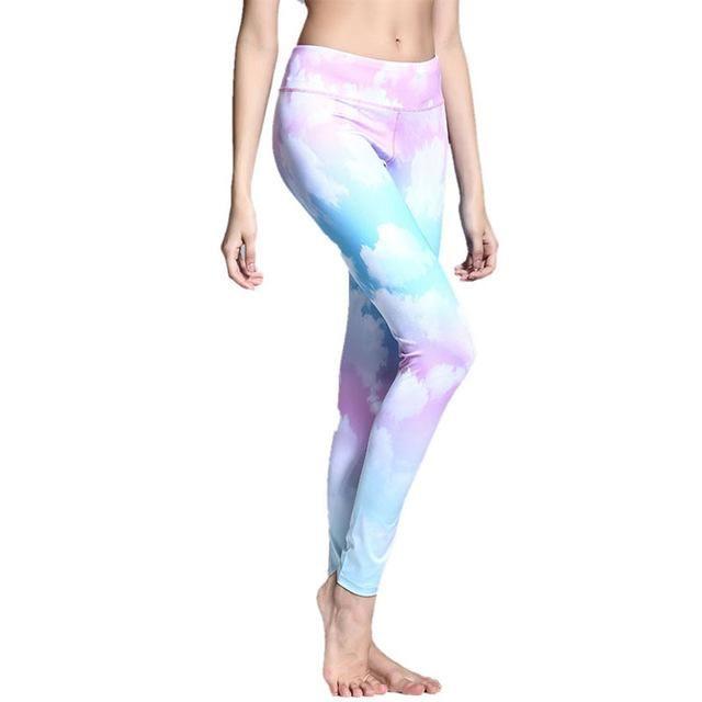Fitness Pants Peacock Yoga Leggings Running Women Sportswear Please Read Size Chart Carefully