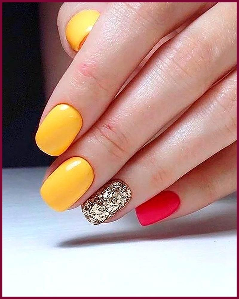 Mustard Yellow Nails See This Instagram Photo By Ilovekenyaaaaaaa 1 449 Likes Yellow Nails Yellow Nails Design Toe Nails