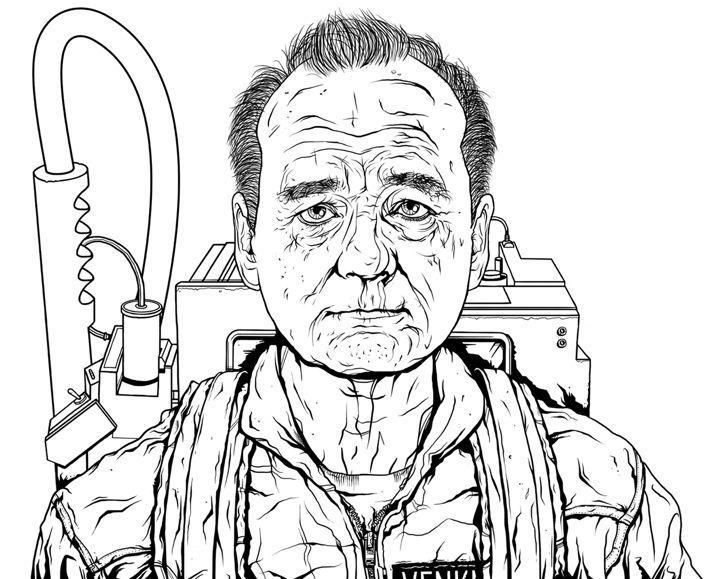 bill murray illustration by jon defreest via behance - Bill Murray Coloring Book