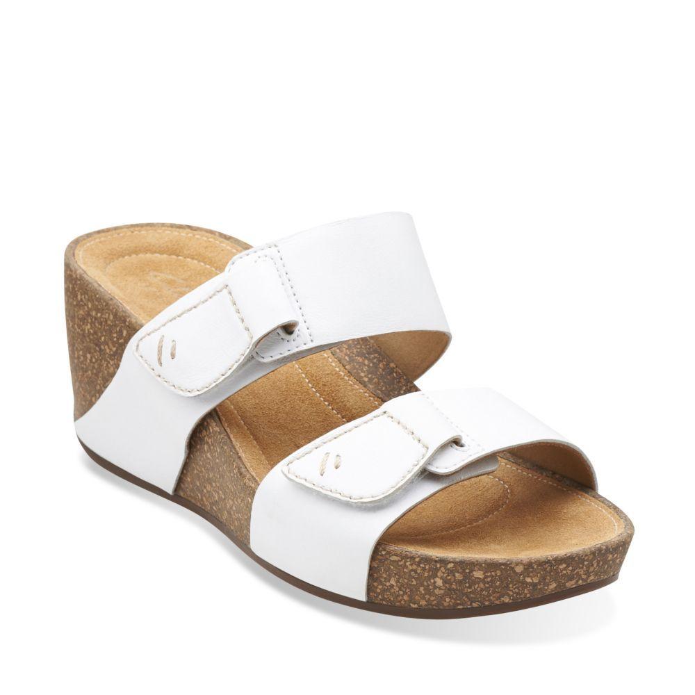 03dbd26c9233 Temira East White Leather - Womens Medium Width Shoes - Clarks ...