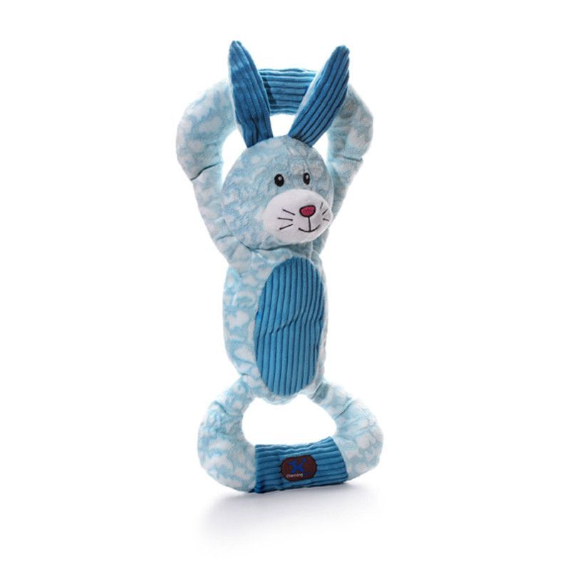 Huggable Tuggables Dog Toys Blue Bunny Huggable
