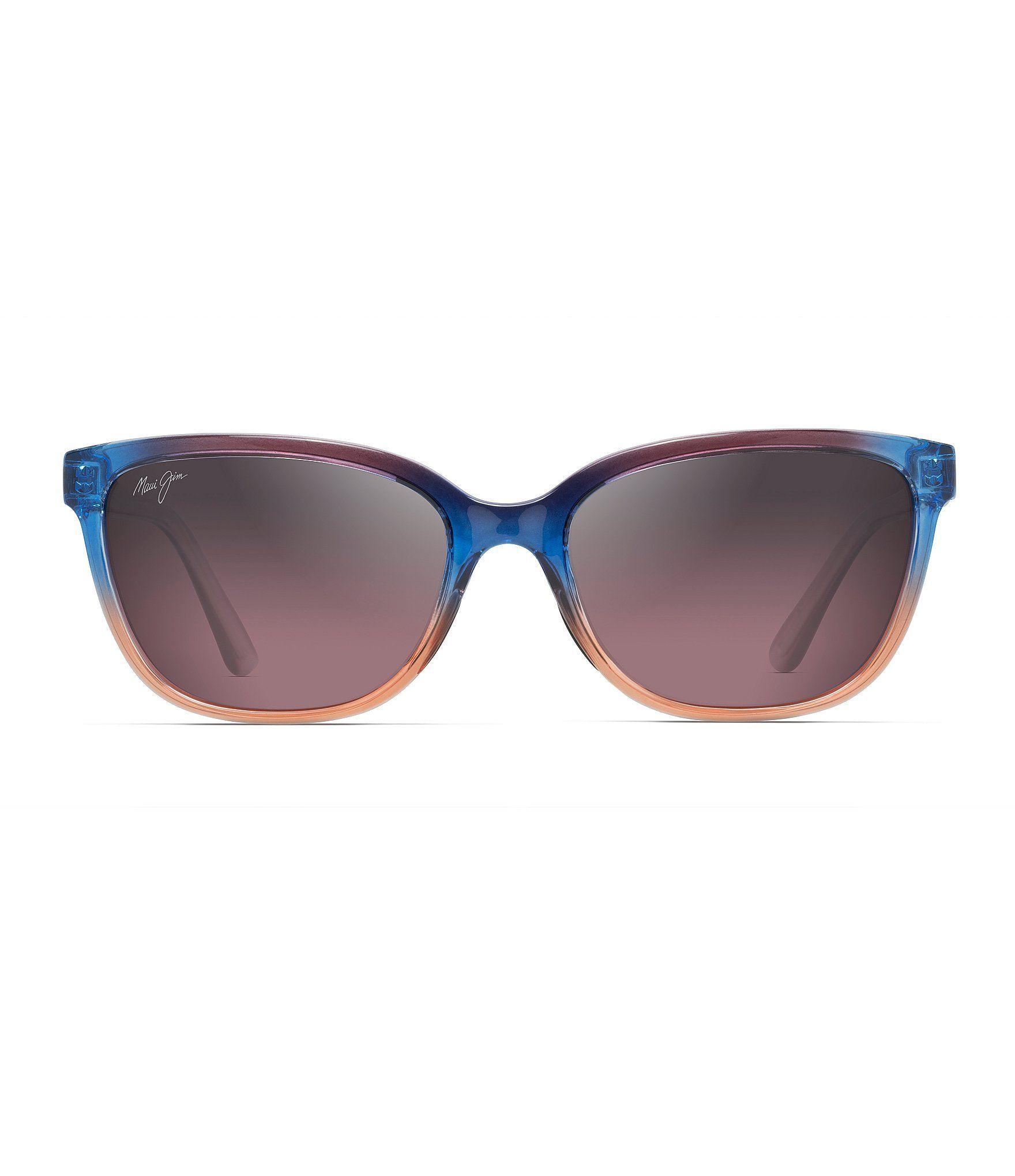 Maui jim honi colorblocked polarized cat eye sunglasses