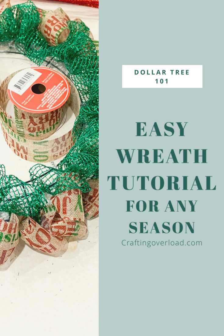 Deco Mesh Wreath Tutorial – Crafting Overload #decomeshwreaths