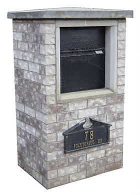 the locking dvault full service vault is the perfect residential column mount curbside mailbox drop box for mail and package delivery - Lockable Mailbox