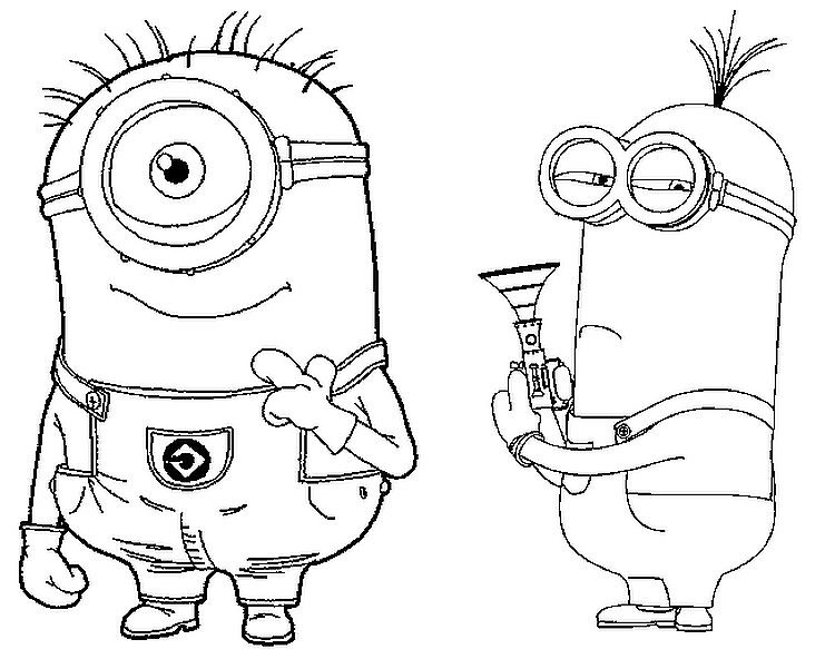 Kleurplaat Minions Coloring Pages Books Pinterest Coloring