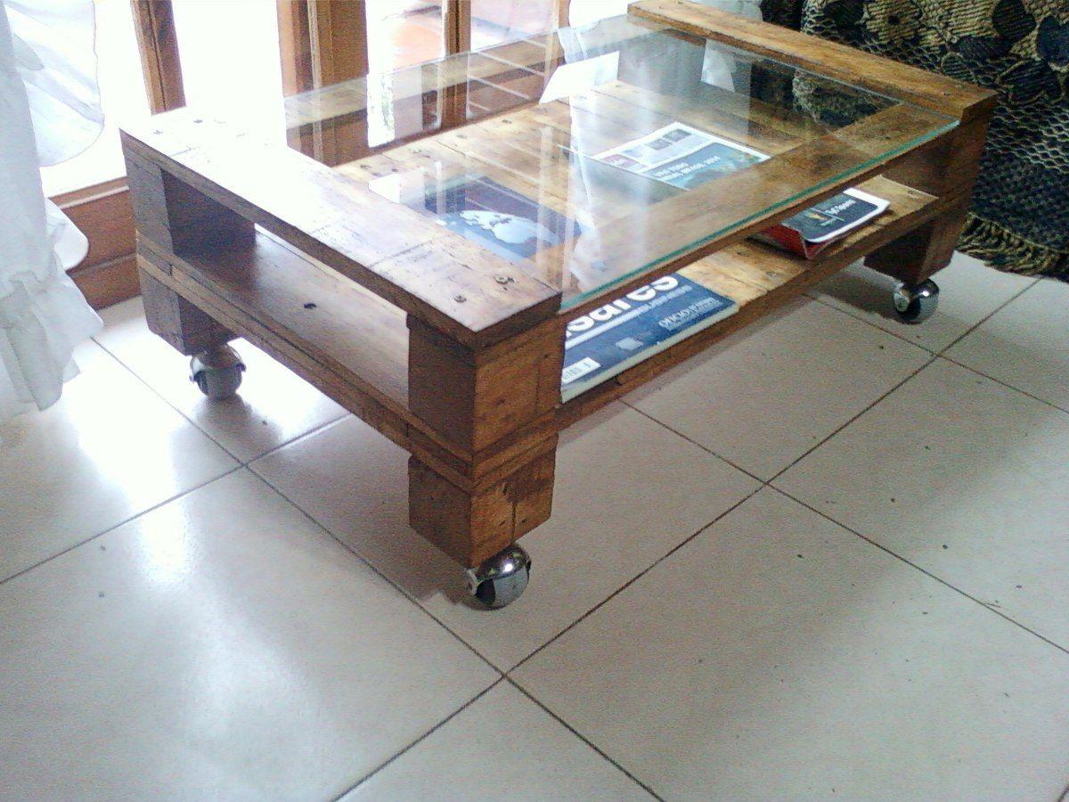 Resultado de imagen para mesa de palet con vidrio | reciclado palets ...