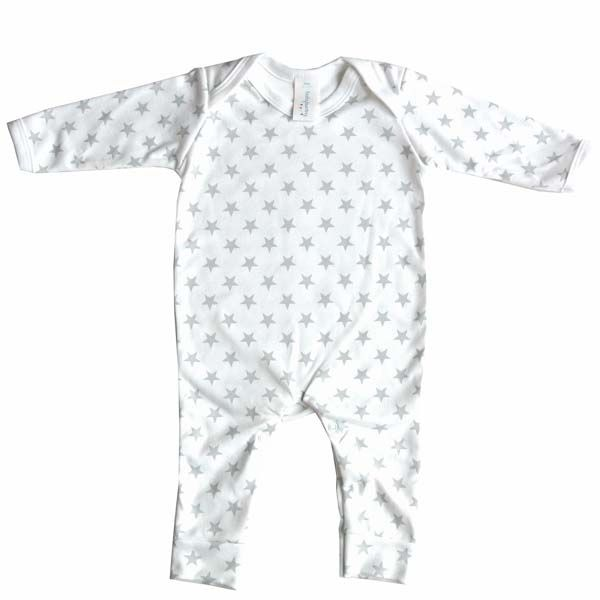 Baby Bunting Grey White Star Print Rompersuit Baby Clothes