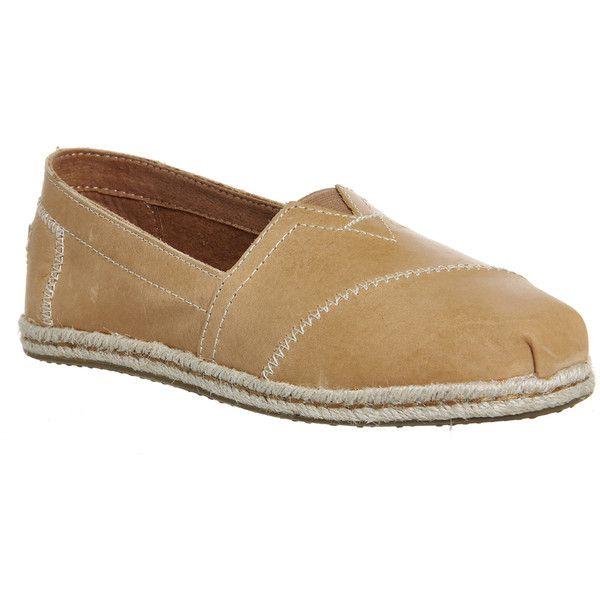 Toms Seasonal Classic Slip On Womens Flats Sandstorm Vachetta Leather